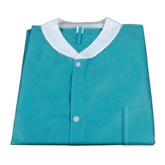 Disposable Lab Coat, 2X-Large, 10Pk,  Teal Green