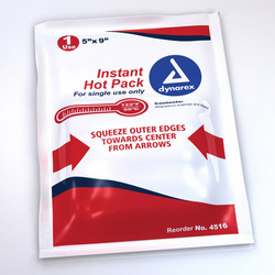 "Instant Hot Pack 5"" x 9"" Ea"