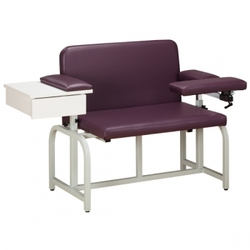 Bariatric Blood Drawing Chair with Flip-Arms - Bariatric Blood Drawing Chair with Drawer and Flip-Arm