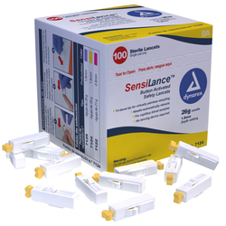 Sensi-Lance Safety Lancet Button Activated, 21G Sterile, 100/B - Sensi-Lance Safety Lancet Button Activated, 26G Sterile, 100/B