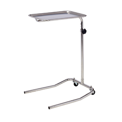 Double & Single Post Mayo Stands----Double Post - Stainless Steel Single Post Mayo Stand